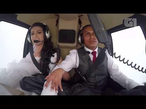 Video do momento da queda de helicóptero que matou a noiva