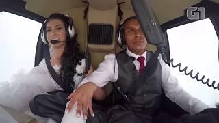 Cenas Fortes: Veja momento exato da queda de helicóptero que matou noiva HD thumbnail