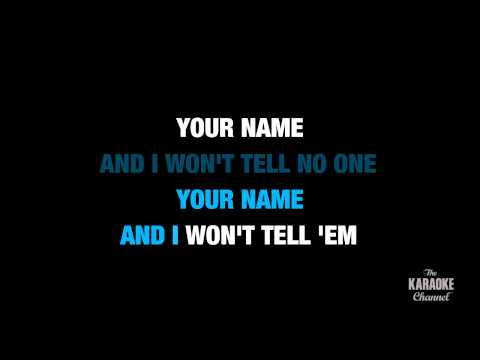 """Name in the Style of """"Goo Goo Dolls"""" karaoke video with lyrics (no lead vocal)"""