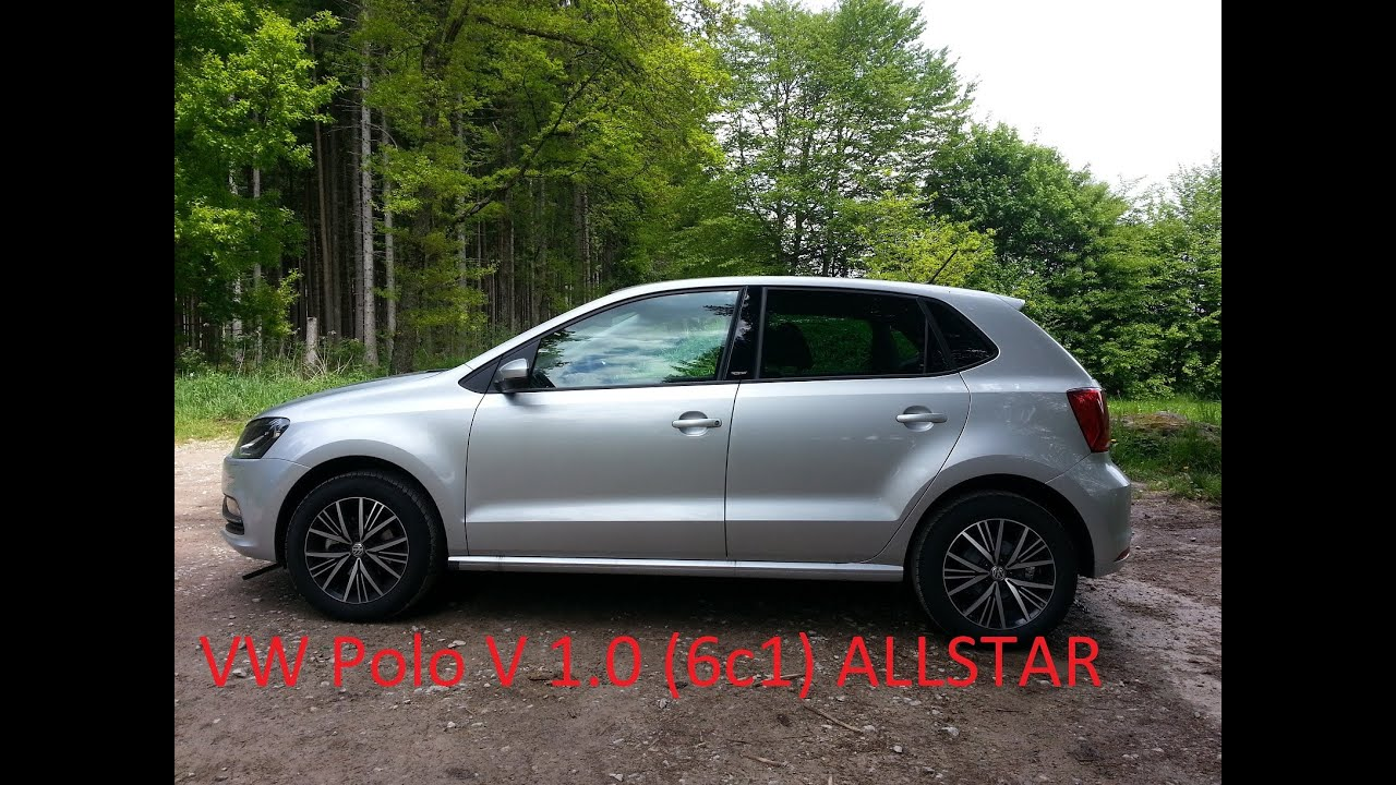 vw polo v 6c1 1 0 allstar 2016 silber grau walkaround 55kw 75ps youtube. Black Bedroom Furniture Sets. Home Design Ideas