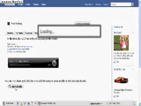 How to Put Music on Your Facebook Profile flv