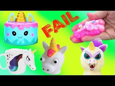 Wacky Unicorn Slime FAIL Wednesday & Cutting Open Squishies