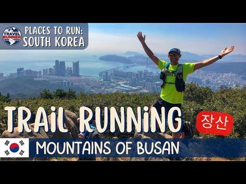 Trail Running in Busan, SOUTH KOREA    Jangsan Mountain & Waterfall Temple to Haeundae Beach