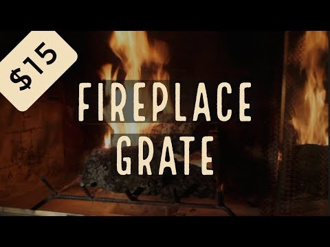$15 DIY Fireplace Grate