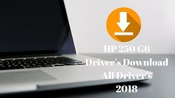 HP 250 G6 Notebook PC Driver Download Now All Drivers 2018