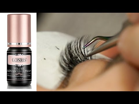 Russian Volume eyelash extensions using Lonris Glue