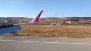 Aterizare pe aeroportul din Cluj