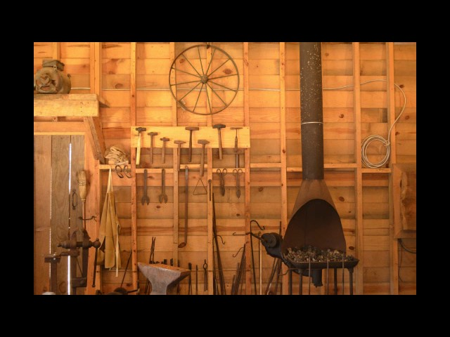 Blacksmithing at the Tobacco Farm Life Museum - Kenly NC