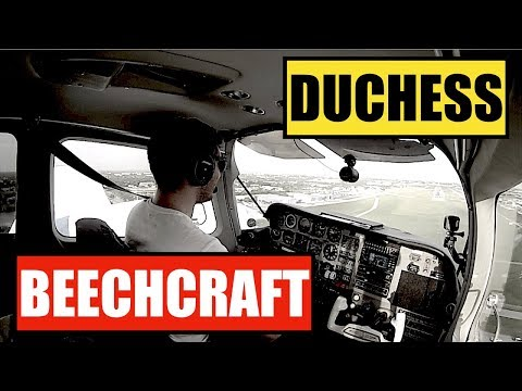 Beechcraft Duchess - Short Multiengine Flight - Crosswind Landing