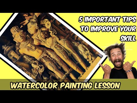how to paint realistic Watercolor painting tutorial || 5 important tips || improve your skills