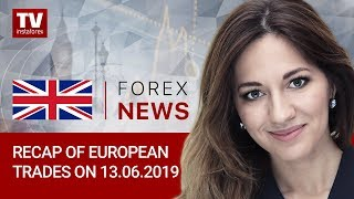 InstaForex tv news: 13.06.2019: What can help euro break out of range (EUR, USD, CHF, GBP)