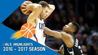 Blake Griffin vs Giannis Antetokounmpo Freaks Duel 2017.03.15 - Giannis with 16, Griffin With 17!