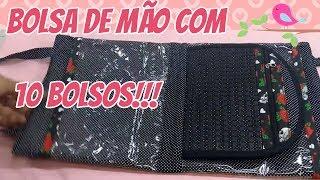 Faça Bolsa de Mão com 10 bolsos – Costura