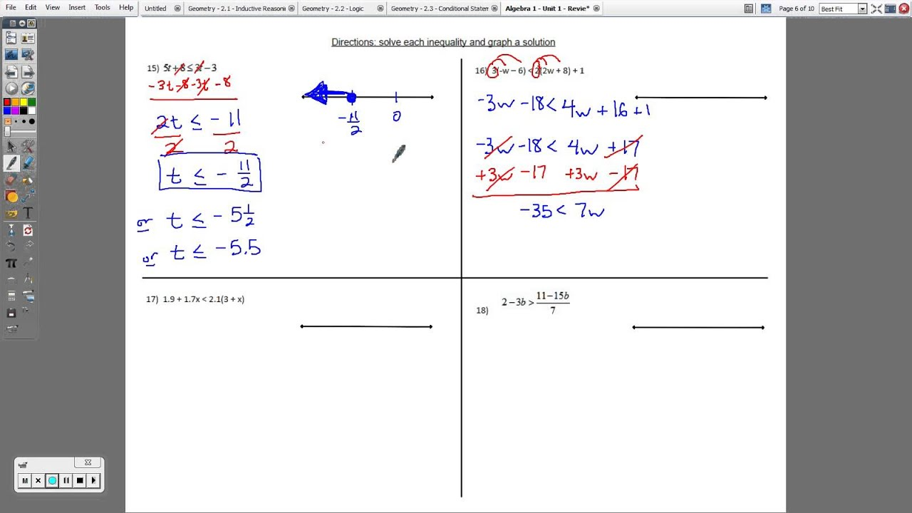 Algebra 1 Equations And Answers Algebra 1 Worksheets