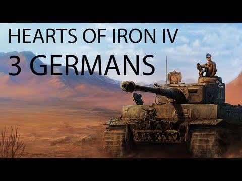 Hearts of Iron IV - A Tale of Three Germanies Timelapse