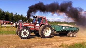 Traktorit vedossa Rantasalmi 2019