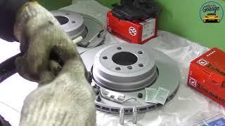 Замена дисков Otto Zimmermann на BMW 7 E65  Замена задних дисков на СТО БМВ Гараж
