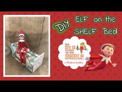 DIY ELF on the SHELF Bed using Dollar Tree items....