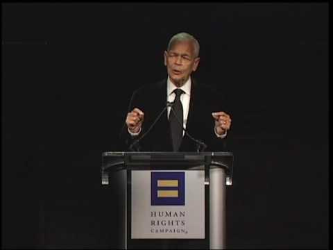Julian Bond speaking at HRC Los Angeles Dinner