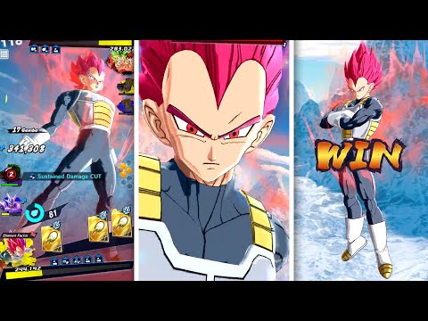 STOPPING RISING RUSH WITH SSG VEGETA! Dragon Ball Legends Super Saiyan God Vegeta 498%