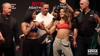 UFC Argentina: Cynthia Calvillo  vs. Poliana Botelho Weigh-in Staredown