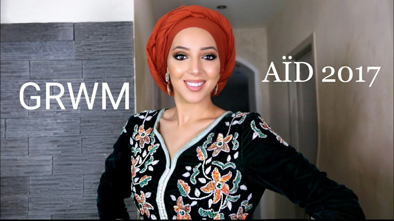 aid 2017 get ready with me make up turban caftan youtube. Black Bedroom Furniture Sets. Home Design Ideas
