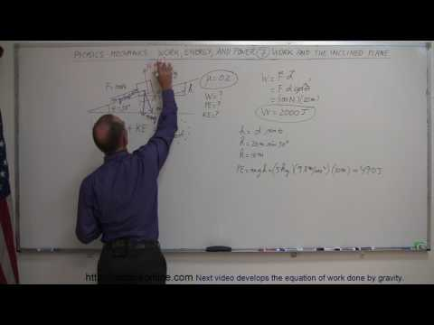Physics   Mechanics  Work, Energy, and Power 7 of 20 Inclined Plane Friction