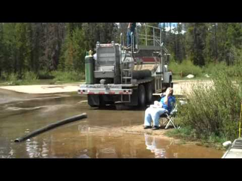 Stocking the lake with 1800 pounds of rainbow trout