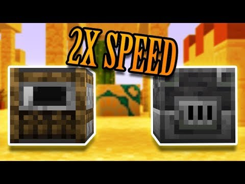 Minecraft: DOUBLE SPEED FURNACES