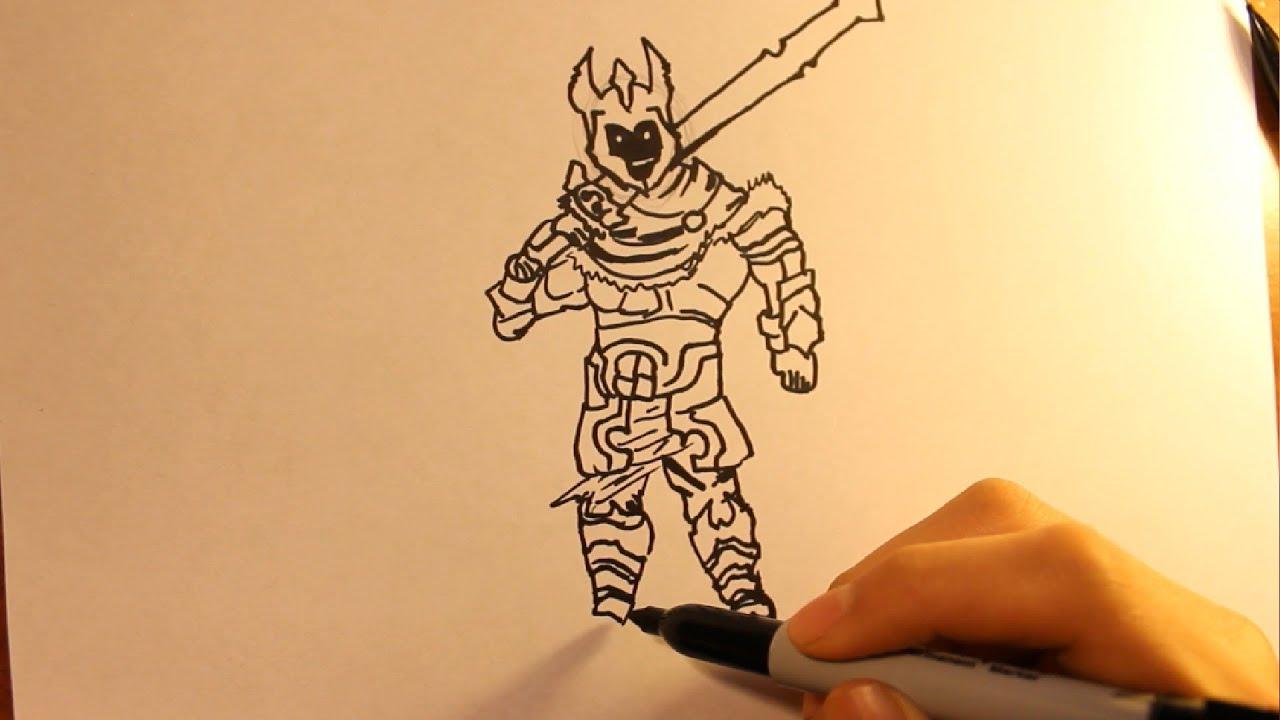 how to draw a cartoon armor