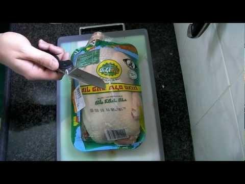 Разделка курицы ножом Ontario RAT 1