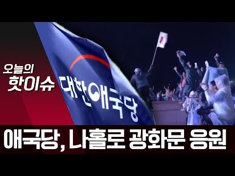 """대한애국당의 나홀로 응원...광화문 외로운 """"대~한민국""""   뉴스A"""