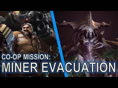 Starcraft 2 Co-Op Mission: Miner Evacuation [Level 6 Swann]