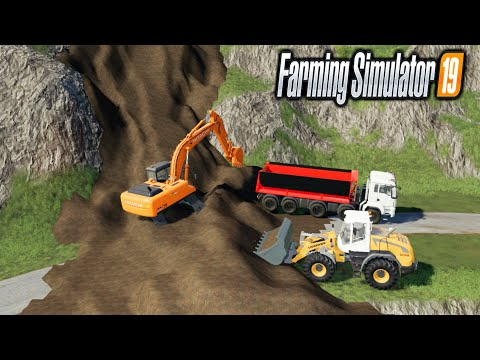 Mountain Collapse TP Pierrot Map Mining And Construction Economy Map Farming Simulator 2019