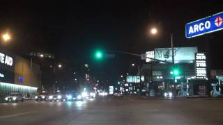 Sunset Blvd, West Hollywood - Monday night Riding in - LA MBZ S550 - High Defenition - True HD 1080i