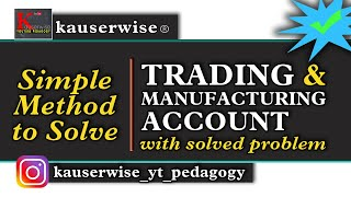 Trading and Manufacturing Account (Simple explanation with solved problem) :-by kauserwise thumbnail