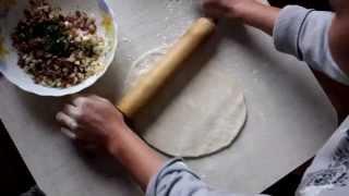 Узбекский ханум (хоным) - рулет с начинкой на пару. (Орама)