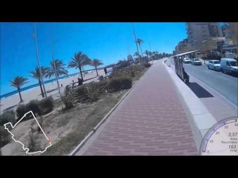 Video Ruta Circular Bicicleta PLAYA DE GANDIA - Paseo Marítimo, Puerto, Alqueria del Duc, Marjals