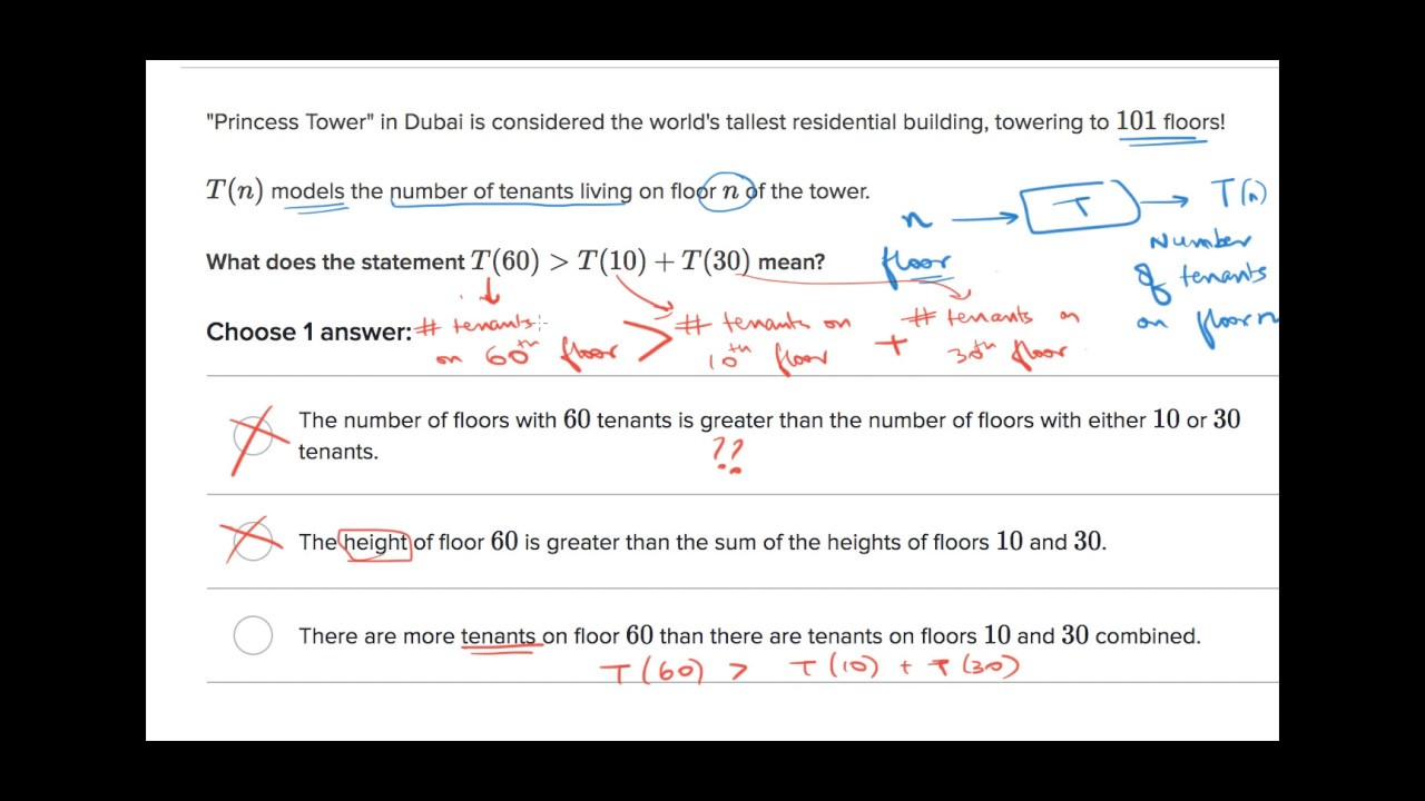 Function notation word problem tower (Hindi)