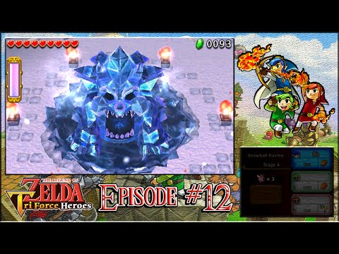 The Legend Of Zelda: Triforce Heroes - Snowball Ravine & The Silver Shrine - Episode 12