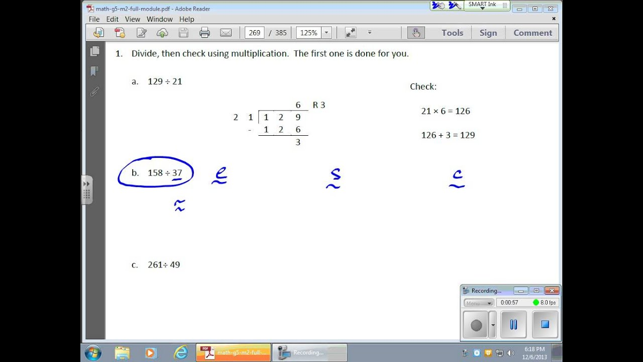 December 06 Module 2 Lesson 21 Division With Two Digit Divisors Quotients Contain Remainders