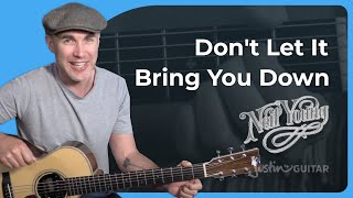 Neil Young - Don't Let It Bring You Down Guitar Lesson Tutorial - JustinGuitar