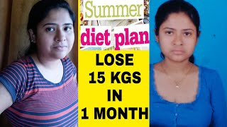 Summer diet plan for weight loss | Lose 15 kgs in 1 month | how to lose weight fast