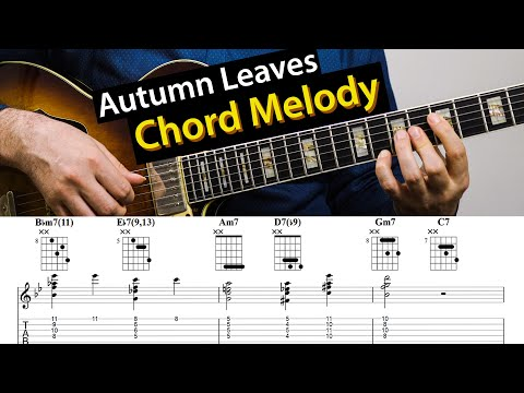 Autumn Leaves - How To Use Drop 2 For An Easy Chord Melody
