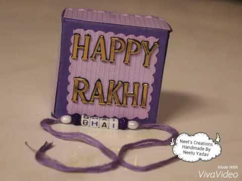 Rakshabandhan special | Mini Explosion Box Card  By Neet's Creations