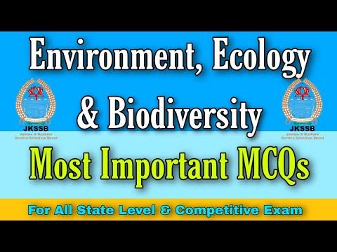 General Knowledge    MCQs    Environment, Ecology & Biodiversity    JKSSB FAA