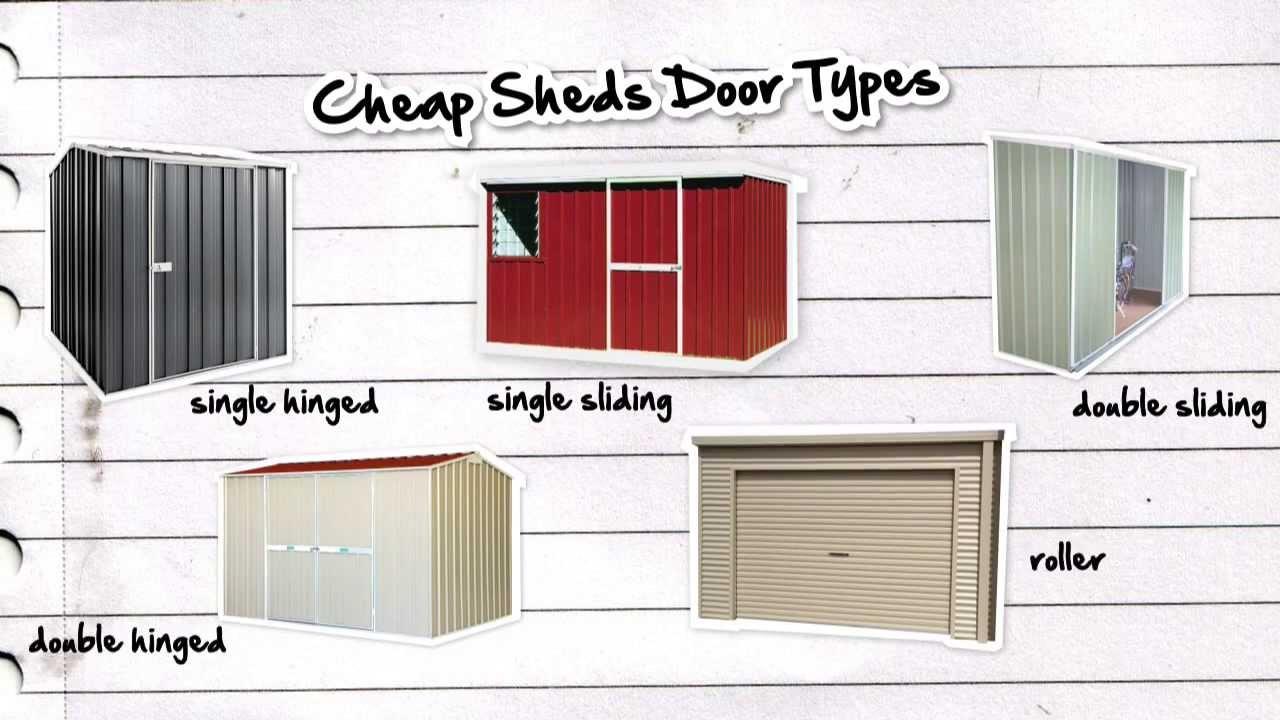 Garden Shed Doors: What type of door should I get and why?