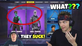 reacting to me almost not buying ghoul trooper in the item shop... (so close)