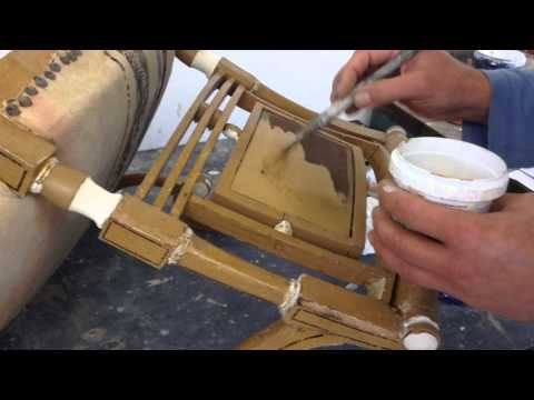 Restoration of a Regency painted armchair
