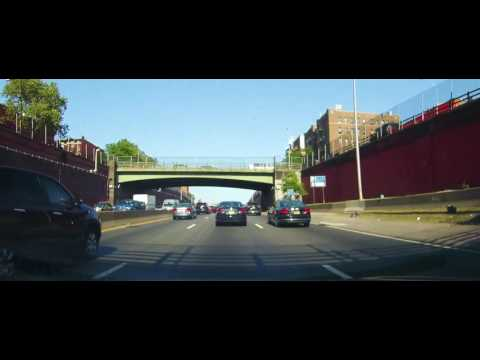 Driving on The Cross Bronx Expressway in New York City